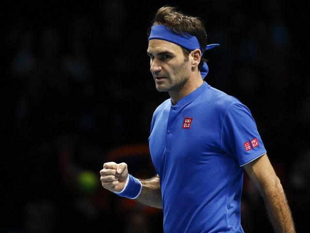 Roger Federer ballt die Faust