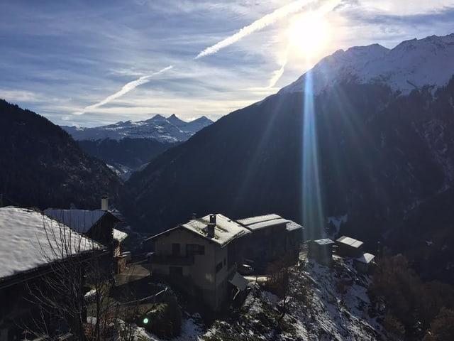 Das Dorf St.Martin im Kanton Graubünden war bis 1973 ohne Strom.