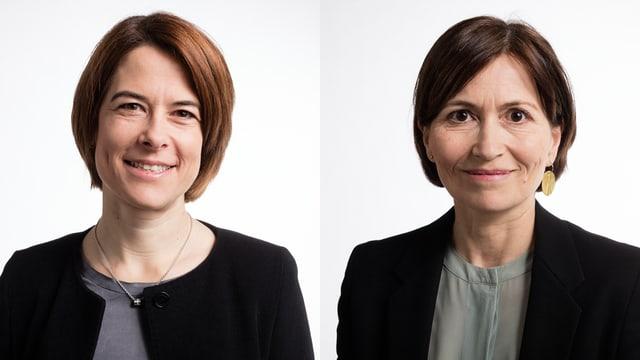 Petra Gössi da la PLD (san.) e Regula Rytz dals Verds (dre.).