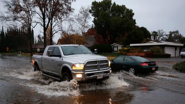 Via inundada.