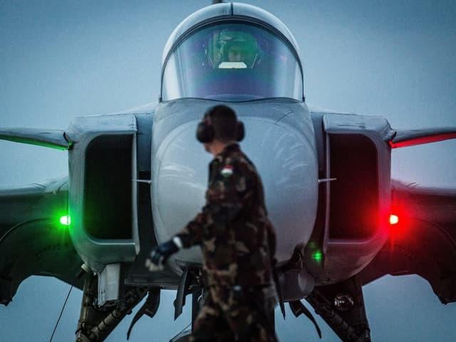 Gripen-Kampfjet im Einsatz