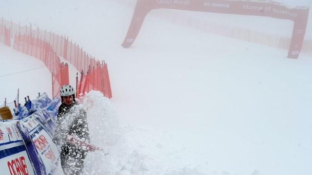 Die Männer-Abfahrt in St. Moritz steht auf der Kippe.