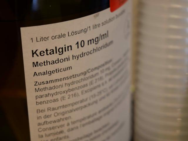Methadon-Flasche