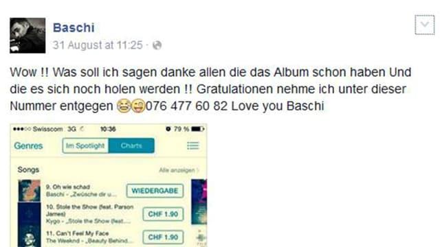 Facebook-Post von Baschi