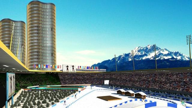 Die Luzerner Allmend, wie sie bei einer erfolgreichen Kandidatur für die olympischen Jugend-Spiele ausgesehen hätte.