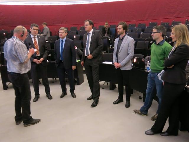 Peter Portmann und die Parteipräsidenten.