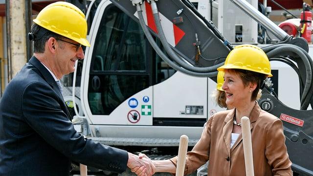 Sicherheitsvorsteher Mario Fehr und Bundesrätin Simonetta Sommaruga.