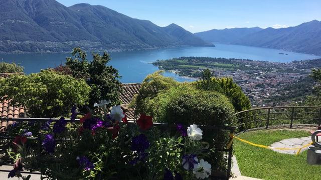 Blick auf den Lago Maggiore im Sommer.