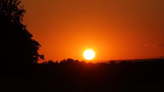 Sonnenuntergang mit Abendrot