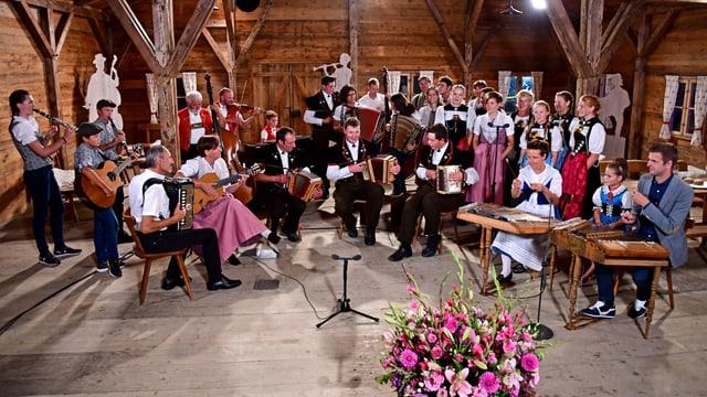 Die grosse Familienzusammenkunft im Potzmusig-Chalet