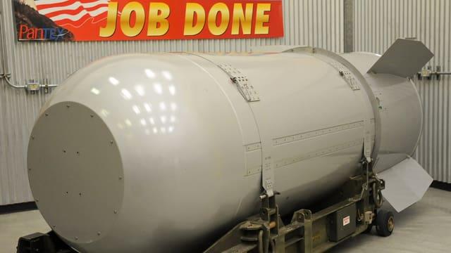 Attrappe einer Atombombe in den USA.