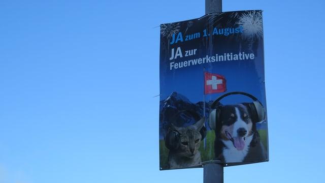 Plakat für Feuerwerk-Initiative