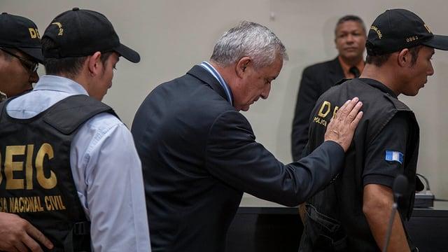 Guatemalas Ex-Präsident in U-Haft.