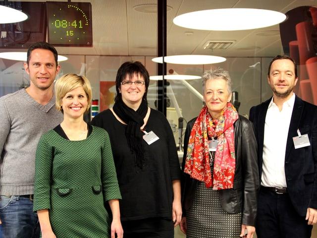 Adrian Küpfer, Sabine Dahinden, Karin Boss-Röthlisberger, Theres Arnet-Vanoni und Peter Röthlisberger.