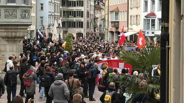 Demonstranten in Schaffhausen