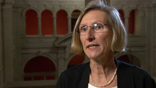 Prisca Birrer-Heimo, Präsidentin SKS, in Nahaufnahme