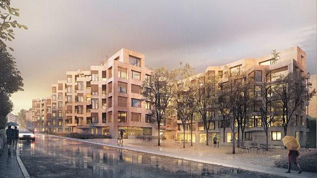 Visualisierung Wohnüberbauung.