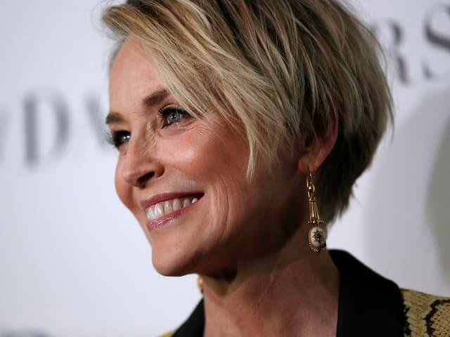 Nahe Gesicht Sharon Stone