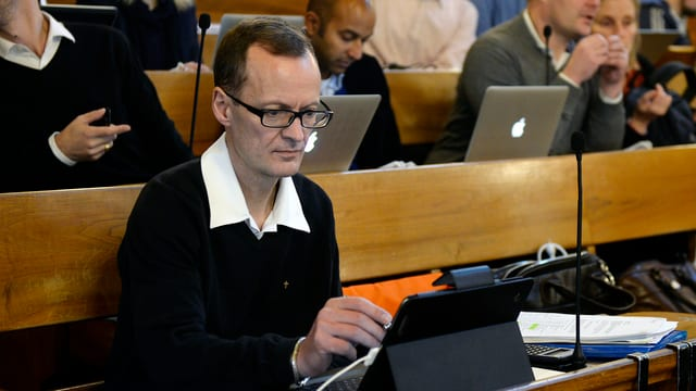 Spielte oft das Zünglein an der Wage: Mario Babini während der Budgetedebatte im Dezember 2014.
