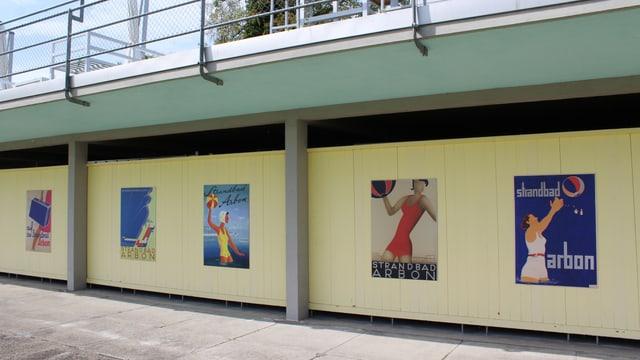Historische Plakate aus den Anfangszeiten des Strandbads Arbon.