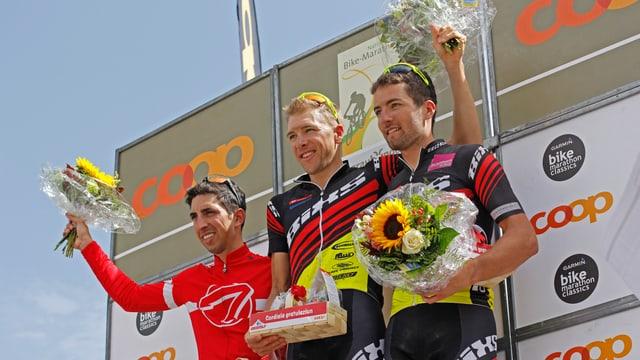 Ils victurs dal campiunadi svizzer; da sanestra Mark Stutzmann, Konny Looser e Oliver Zurbrügg.