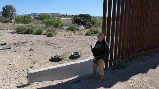 Grenzposten an der US-Mexiko-Grenze.