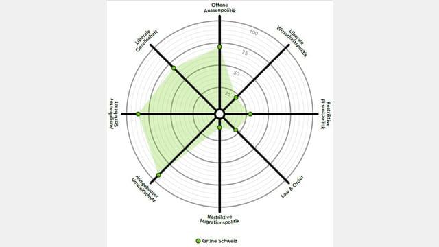 Smartspider-Grafik der Grünen Partei