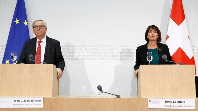 Jean-Claude Juncker e Doris Leuthard.