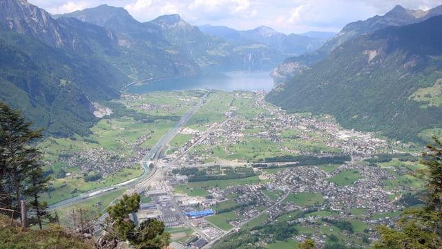 Blick auf Altdorf und Umgebung