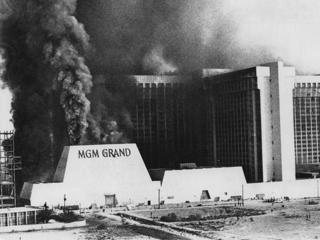 Brand im Hotel «MGM Grand Hotels» in Las Vegas