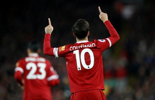 Philippe Coutinho von Liverpool jubelt