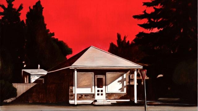 Gemaltes Bild eines Hauses.