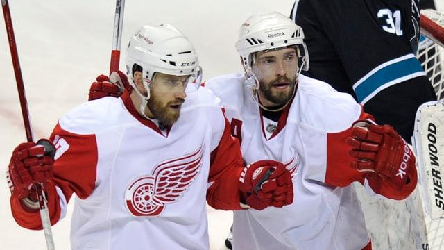 Zetterberg (links) und Dazjuk haben zusammen über 1500 NHL-Partien bestritten.
