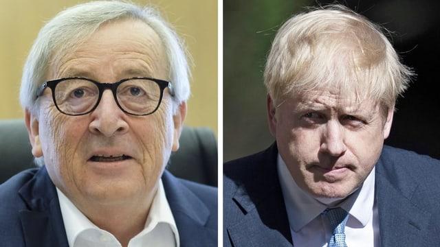 Juncker e Johnson.