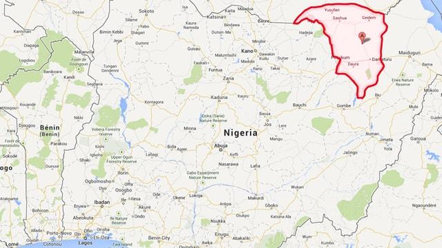 Karte von Nigeria.
