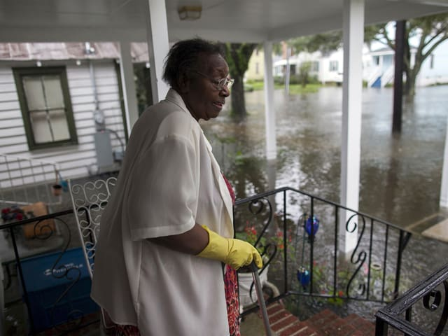 Ammie McKnight muss derzeit in ihrem Haus an der Orange Street in Georgetown ausharren.