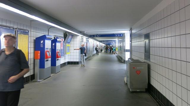 Die Unterführung am Bahnhof Luzern.