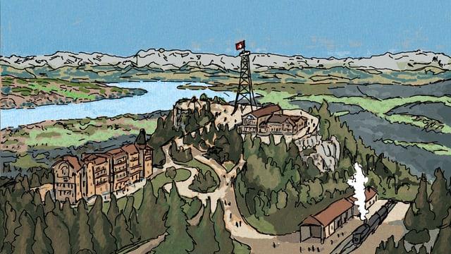 Ein Bild des Üetlibergs in Zürich