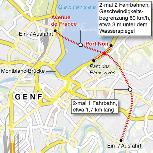 Grafik des Tunnels.
