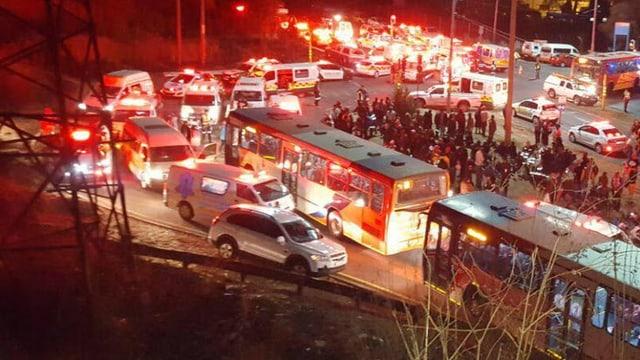 Rettungsfahrzeuge am Unfallort