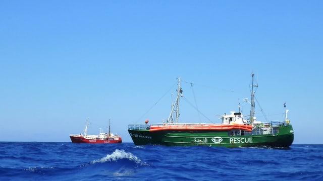 Ein Schiff der NGO Sea-Eye.