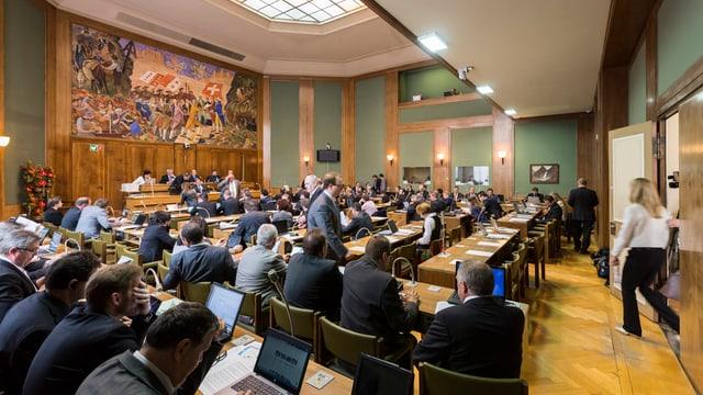 Blick in das Kantonsparlament.