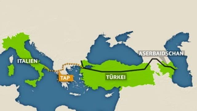 Karte der geplanten Pipeline.