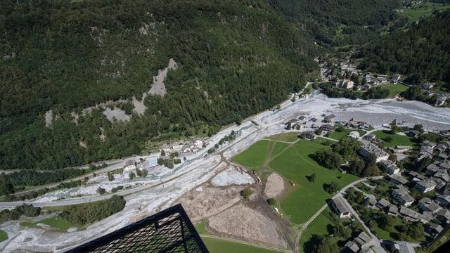 Bergsturzgebiet von oben