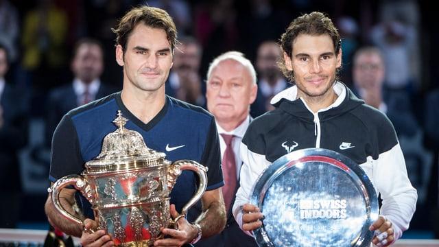Federer und Nadal standen sich 2015 im Endspiel gegenüber.