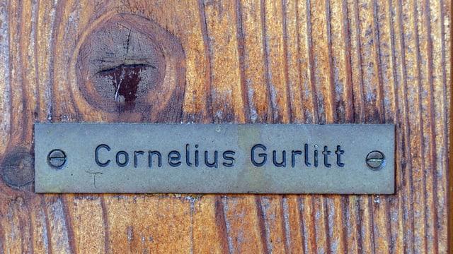 Das Namensschild von Cornelius Gurlitt an seinem Haus in Salzburg.