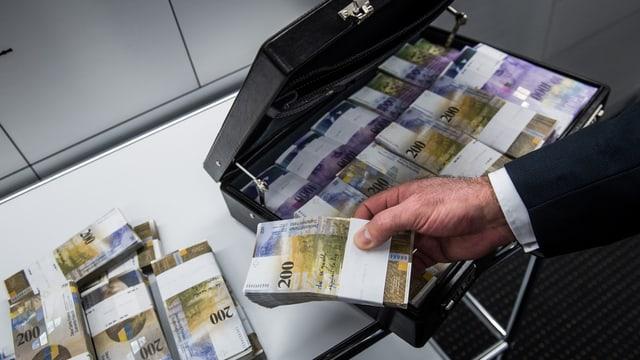 Ein Geldkoffer