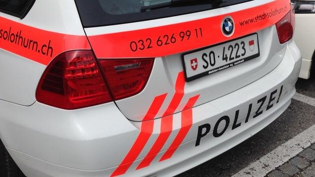 Heck eines Polizeiautos.