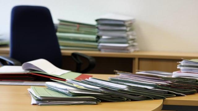 Büro mit Akten