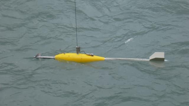 Il torpedo mellen, in instrument per mesirar la profunditad ed il current en differents lieus dal Rain.